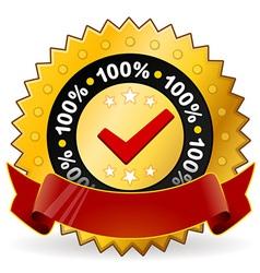 satisfaction warranty label vector image vector image