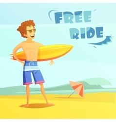 Surfing Retro Cartoon vector image vector image