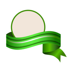 empty round template wuth relistic green banner vector image vector image