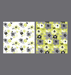 floral pattern with geometric texture vector image