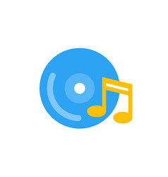 music icon flat style vector image vector image
