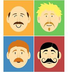 Mustache faces vector image