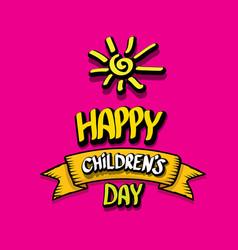 1 june international childrens day background vector