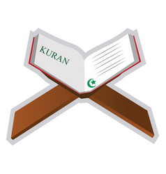 A holy book quran on a white background vector