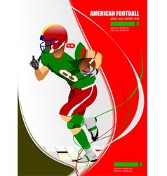 al 0925 american football 04 vector image
