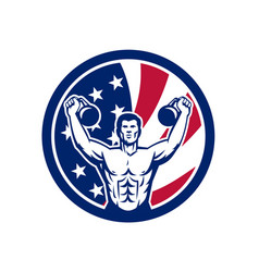 American physical fitness usa flag icon vector