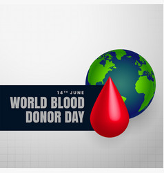 Background for blood donor day vector