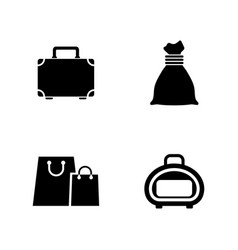 Bag simple related icons vector