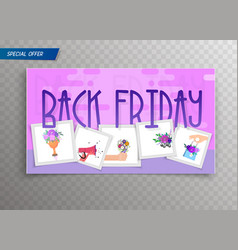Black friday - colorful card for sales vector
