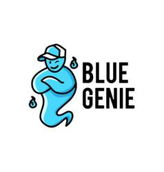 Blue genie hat logo icon vector