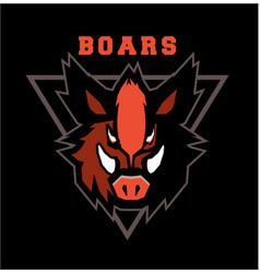 Boar head emblem vector