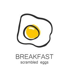 Breakfast scrambled eggs vector