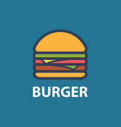 Burger line art vector