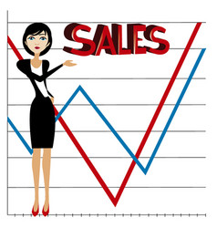 Business sales vector