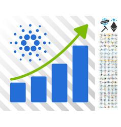 cardano growth chart flat icon with bonus vector image