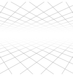 Ceiling and floor tile texture 3d lines in vector image