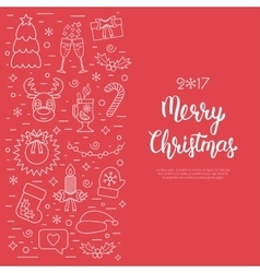 Christmas isolated concept flyer card with vector
