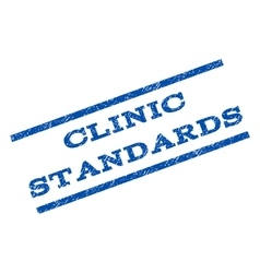 Clinic Standards Watermark Stamp vector