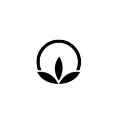 Cotton icon on white background vector