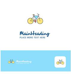 creative cycle logo design flat color logo place vector image