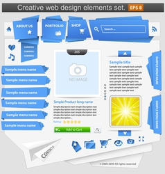 Creative web design vector