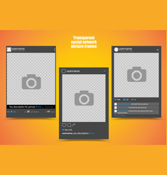 dark photo frame for social network picture with vector image