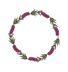 Decorative floral crown icon vector