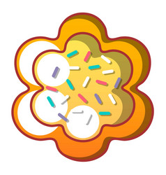 easter bread icon cartoon style vector image