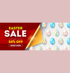 easter sale pattern from eggs attractive vector image