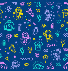 Electric characters pattern vector
