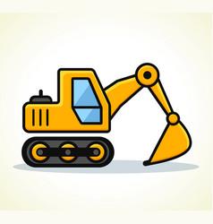 Excavator design vector