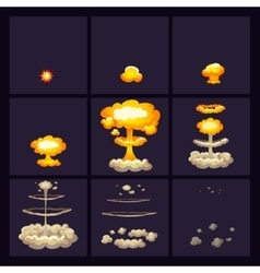 Explosion Effects Icons Set vector