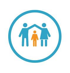 family insurance icon flat design vector image
