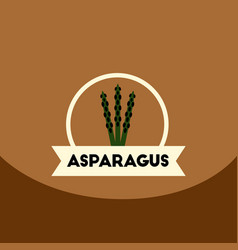 flat icon design collection asparagus emblem vector image