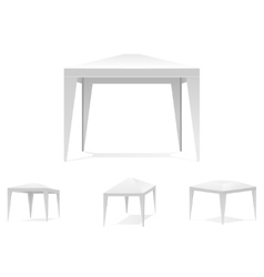 Folding white tent or canopy vector