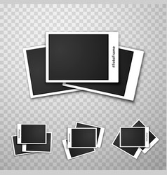 foto frame collage on a transparent background vector image
