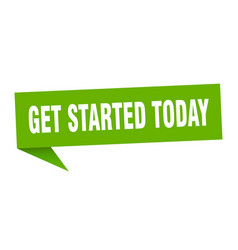 Get started today vector