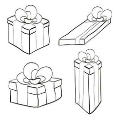 gift box with ribbon and bow different forms vector image