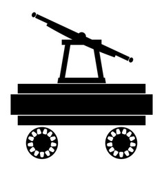 handcar icon black color flat style simple image vector image