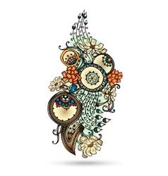 Henna Paisley Mehndi Abstract Element vector