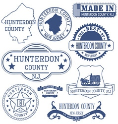 Hunterdon county New Jersey stamps and seals vector