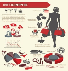 infographic shoping resize vector image