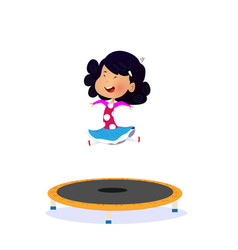 Isolated a girl jumping on a vector