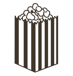 isolated pop corn sketch vector image