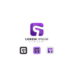 Letter q 3d purple colou creative modern logo vector