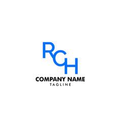 letter rch element logo design vector image