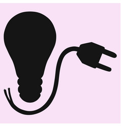 Lightbulb and plug vector