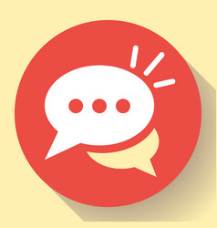 live chat icon with dialog clouds speech vector image