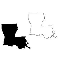 Louisiana map vector