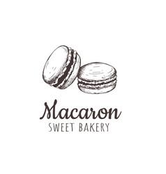 Macaron macaroon macaron sketch hand drawing vector